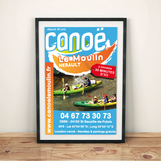affiche A3 canoe le moulin